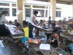 At Talatu Oya school art project.