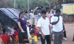 Mihiri and two coordinators of Normadic children project (Mr. arunashantha and Lakshman)visiting the children
