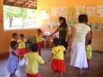 Shalini and Mihiri with pre-school kids.