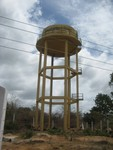 The new water tank